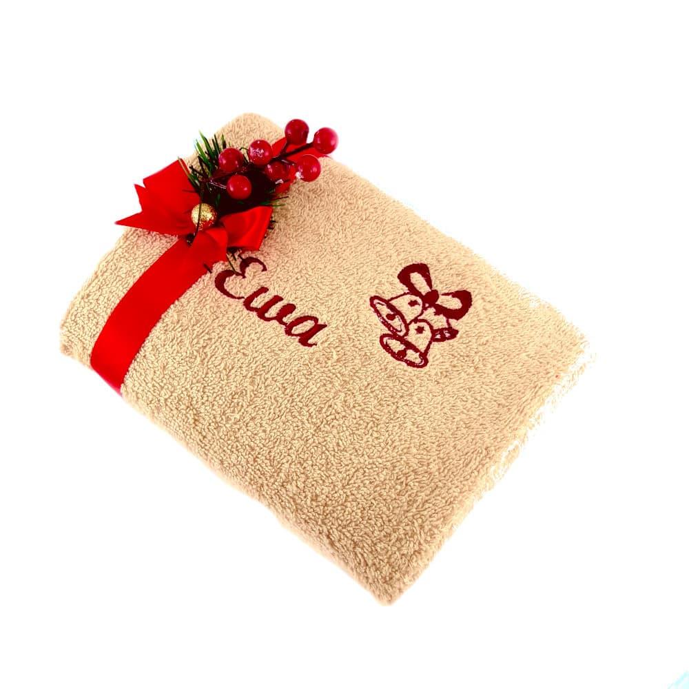 Prezent na święta ręcznik z imieniem dzwoneczki